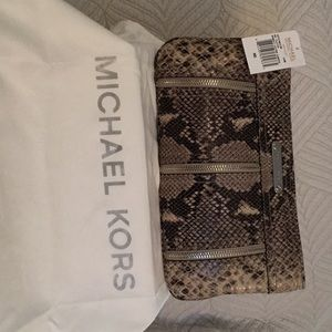 Michael Michael Kors Leather Clutch